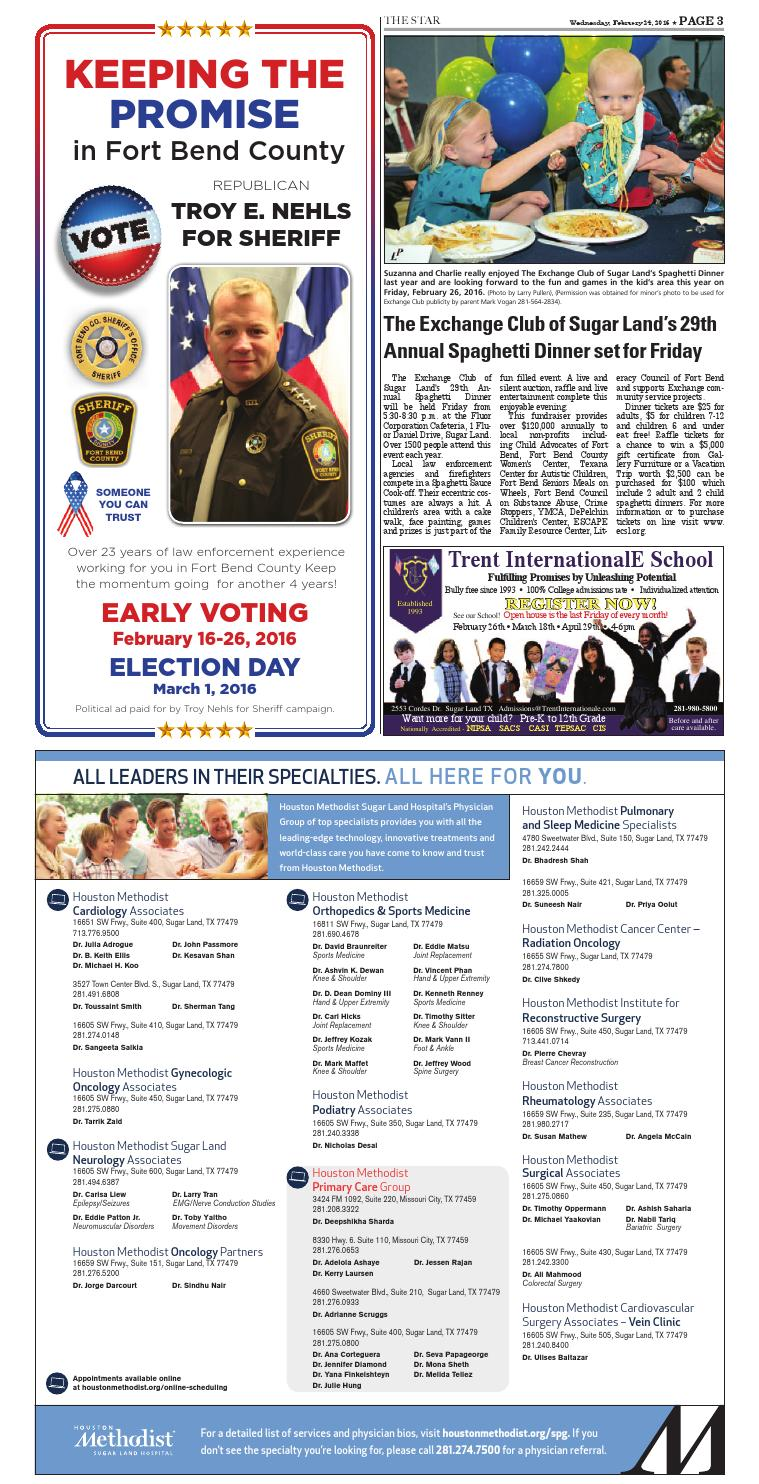 February 24, 2016 - Fort Bend Community Newspaper by Fort