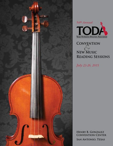 2015 Toda Convention Program By Texas Orchestra Directors