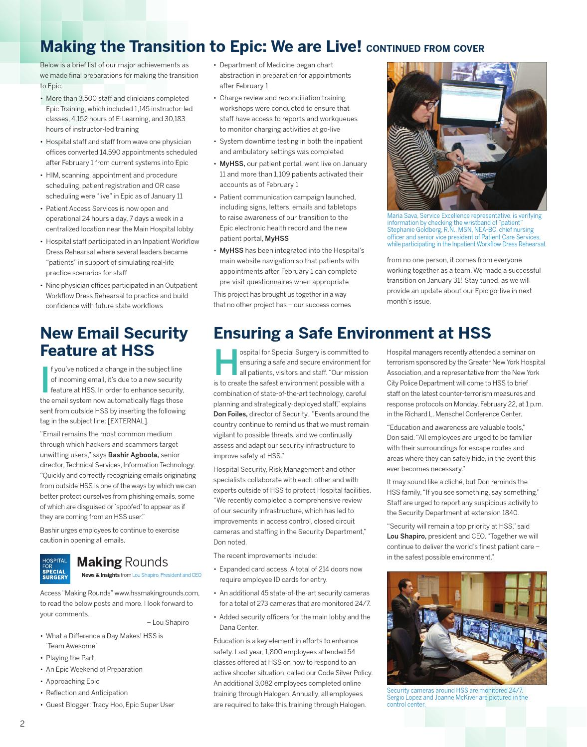 HSS Echo January 2016 by Hospital for Special Surgery - issuu
