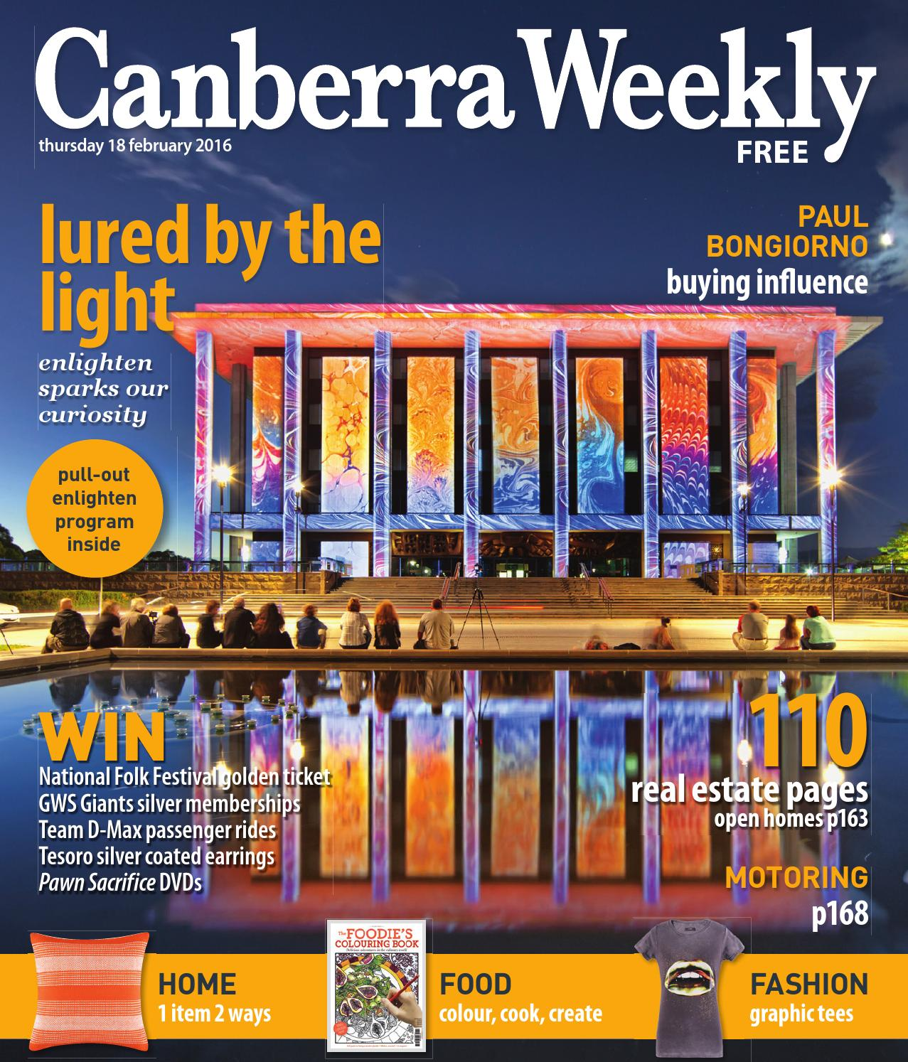eef84bc1fbd 18 February 2016 by Canberra Weekly Magazine - issuu