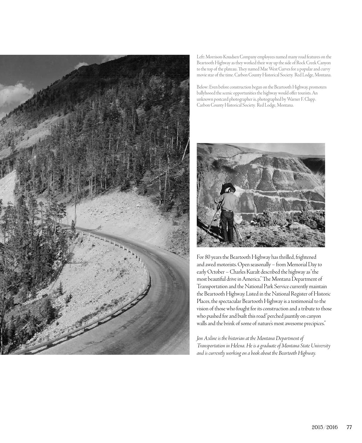 Montana Historian Issue 7 2016 by Rey Advertising - issuu