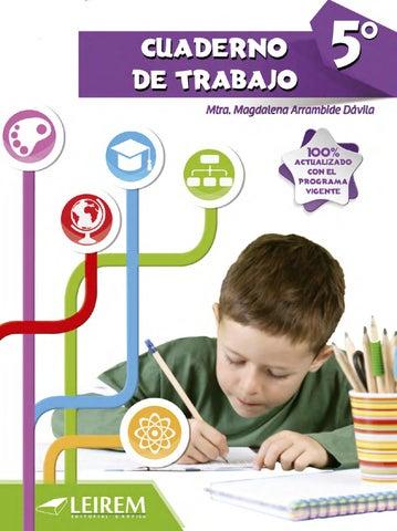Cuaderno de trabajo 5to grado by Daniel Salinas Gonzalez - issuu