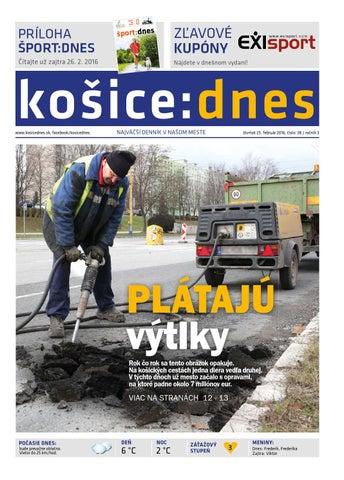 e8d628c9e1 košice dnes 25.2. 2016 by KOŠICE DNES - issuu