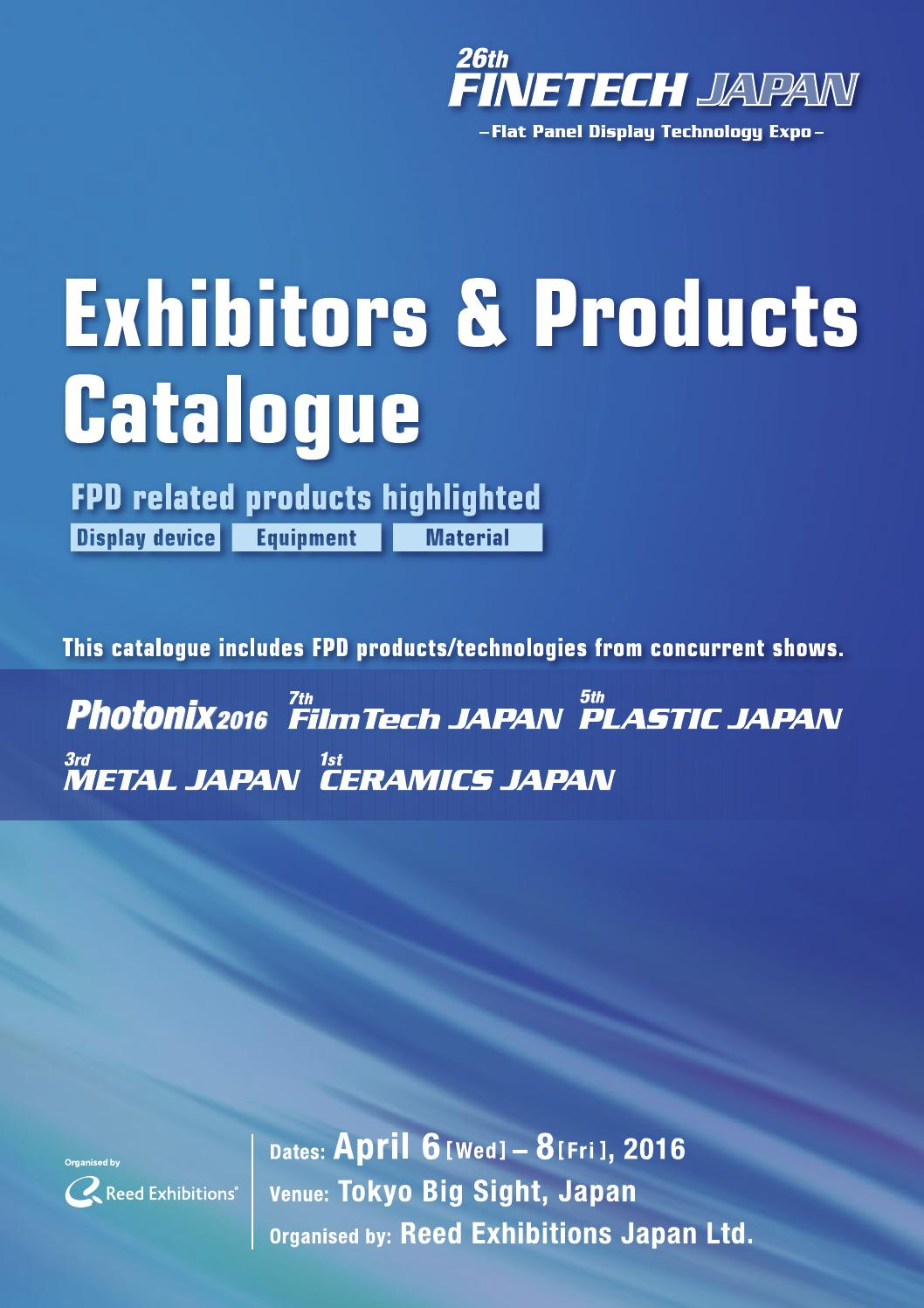 Finetech Japan Exhibitors Products Catalogue 2016 By Reed Mk Wiring Devices Exhibitions Issuu