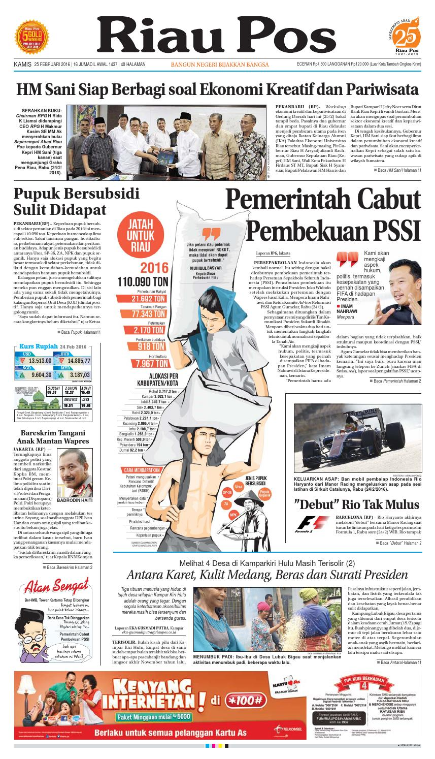 Riau Pos by Riau Pos - issuu 821e0058f1