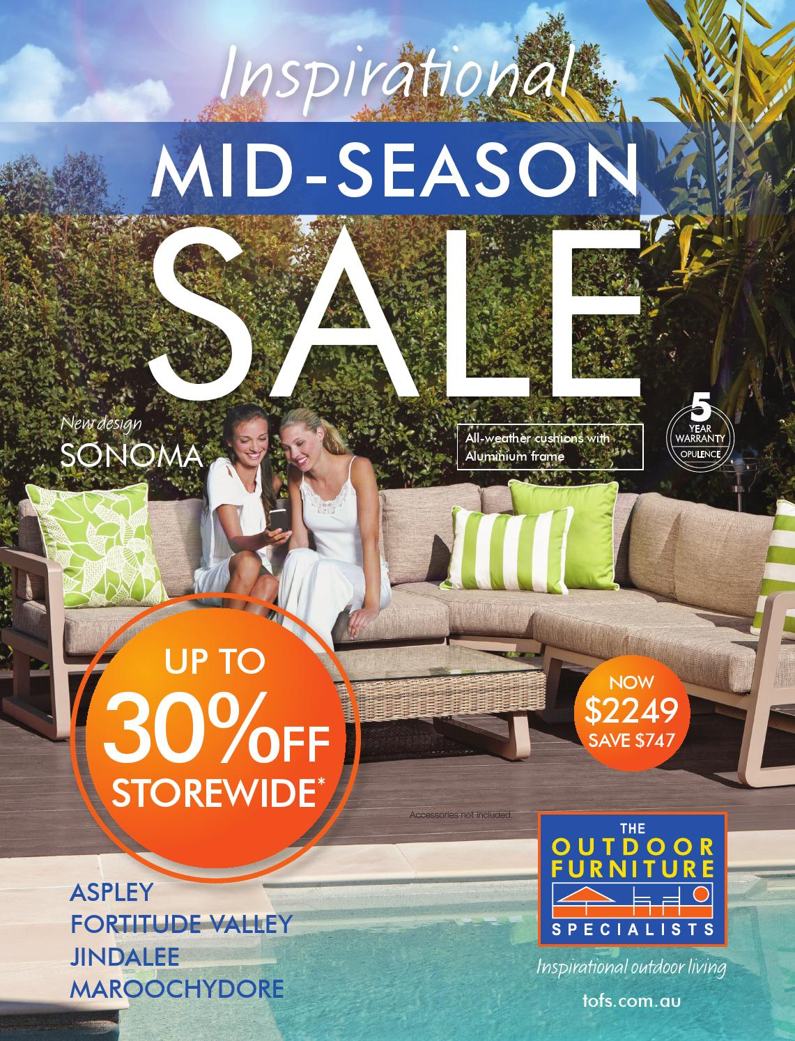 Mid Season Sale   Aspley, Fortitude Valley, Jindalee, Maroochydore By TOFS:  The Outdoor Furniture Specialists   Issuu Part 46