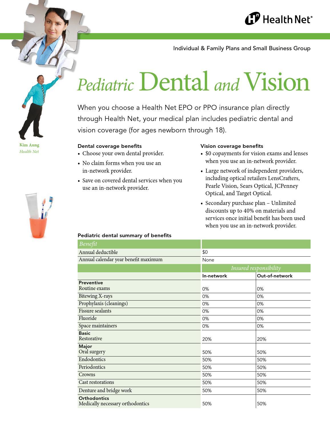 Calendar Year Medical Deductible : Health net pediatric dental ppo plans children under