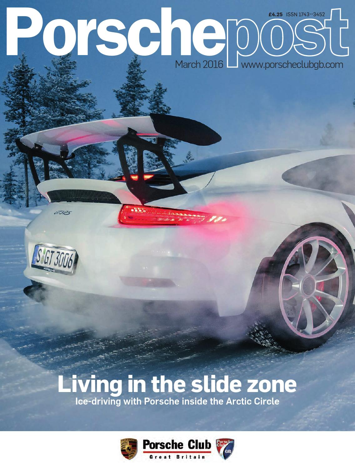 Porsche Post March 2016 By Club Great Britain Issuu Not Carrying The Gt4 Suspension Whether Disc Or Drum On Rear