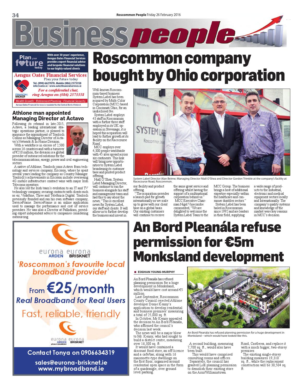 2016 02 26 by Roscommon People - issuu