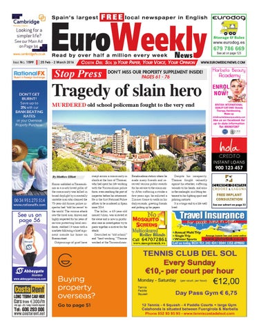 Euro Weekly News - Costa del Sol 25 February - 2 March 2016