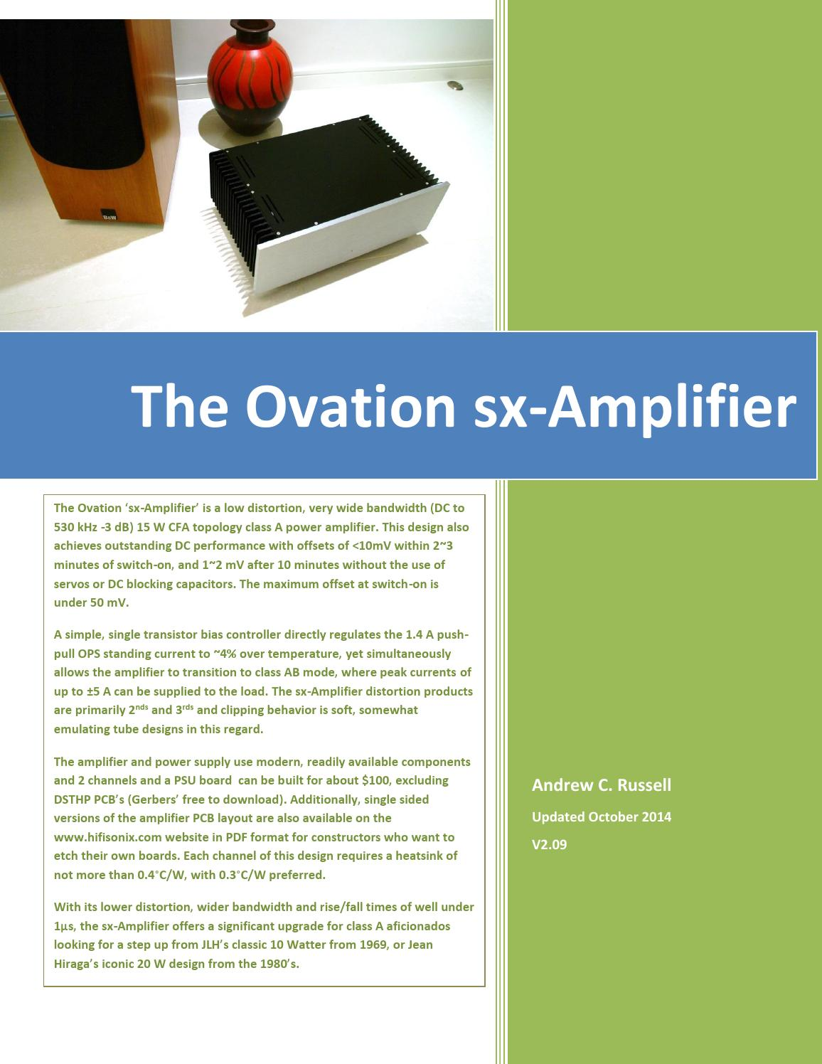 The Sx Amplifier V2 09 By Tolga Issuu Transistor Biasing Example