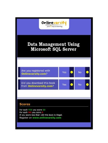 Data management using microsoft sql server highlighted by