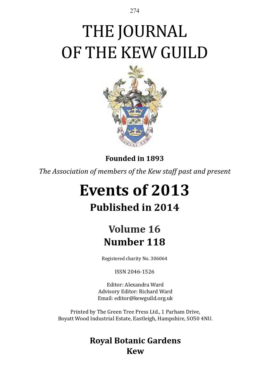 The Journal Of Kew Guild Events 2013 By Scotts Lawn Tractor 2046h Belt Drive Diagram Issuu
