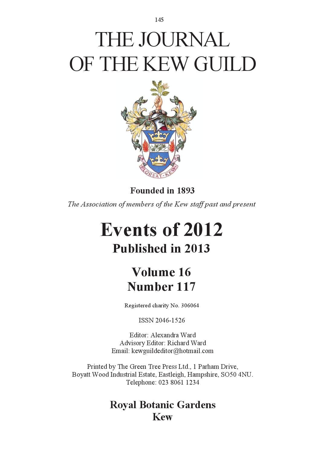 V16s117p145 all by Kew Guild Journal - issuu