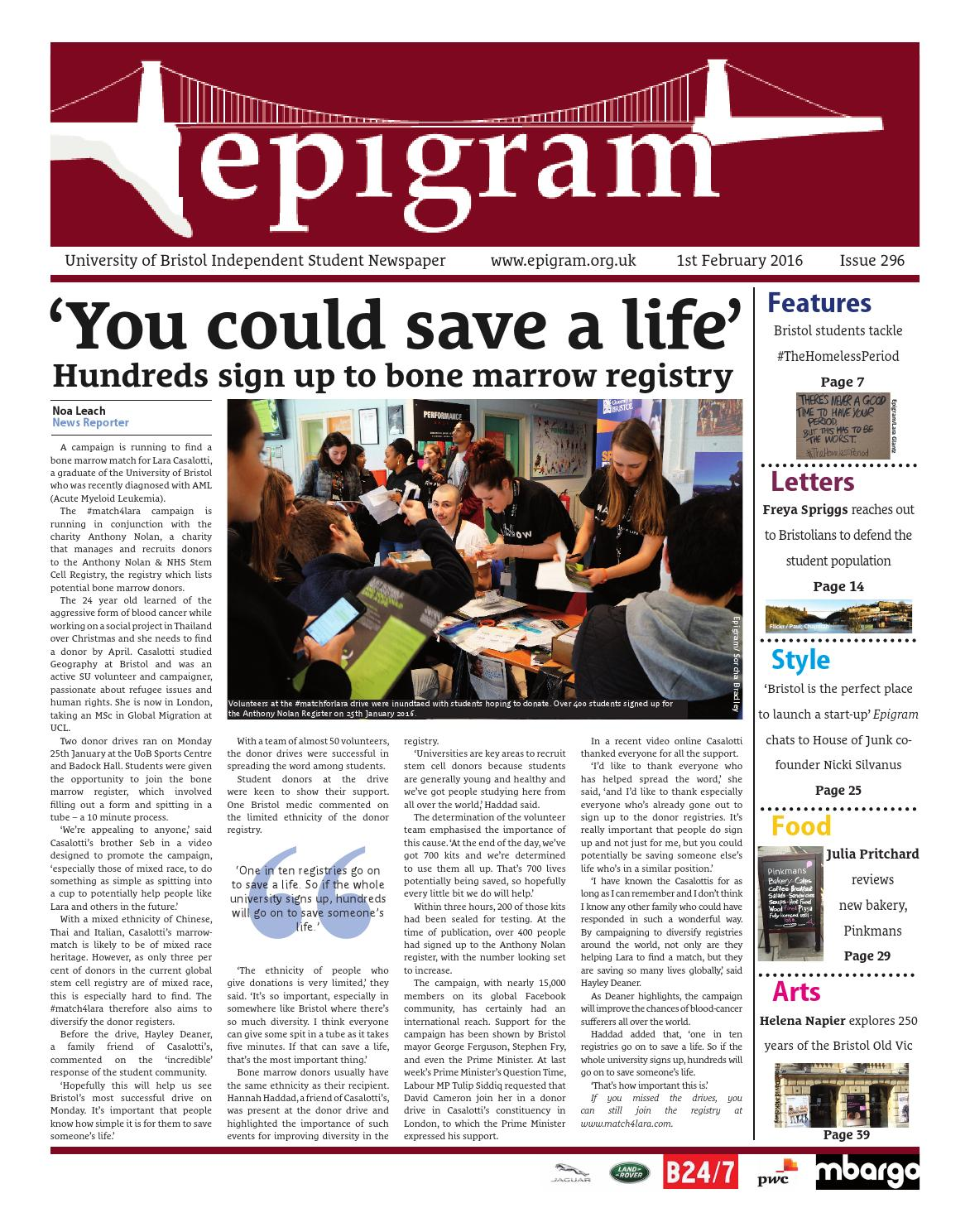 0dfbb0e54fa15e Epigram 296 by Epigram - issuu