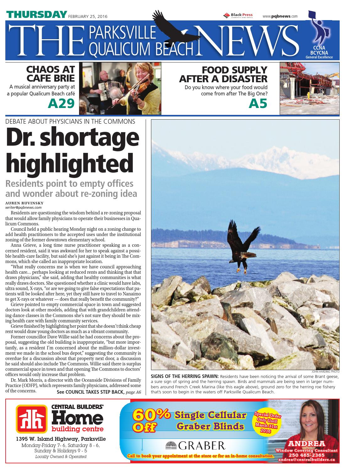 Parksville Qualicum Beach News, February 25, 2016 by Black Press