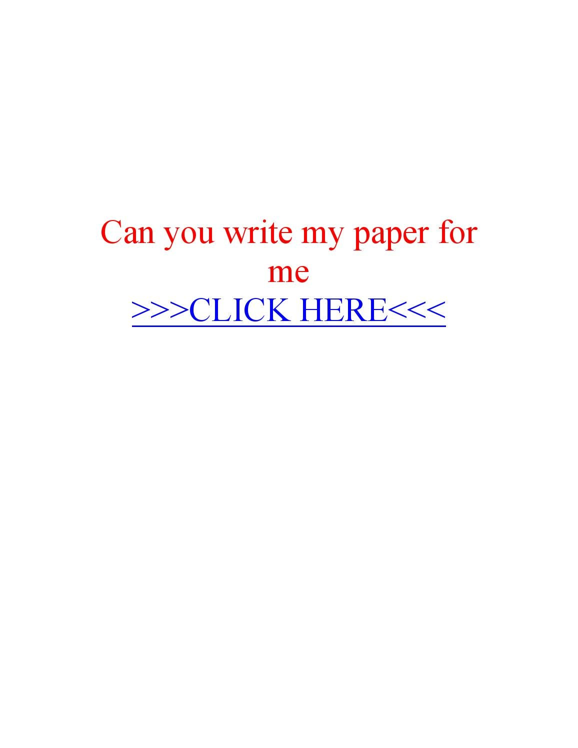 Will you write my essay for me