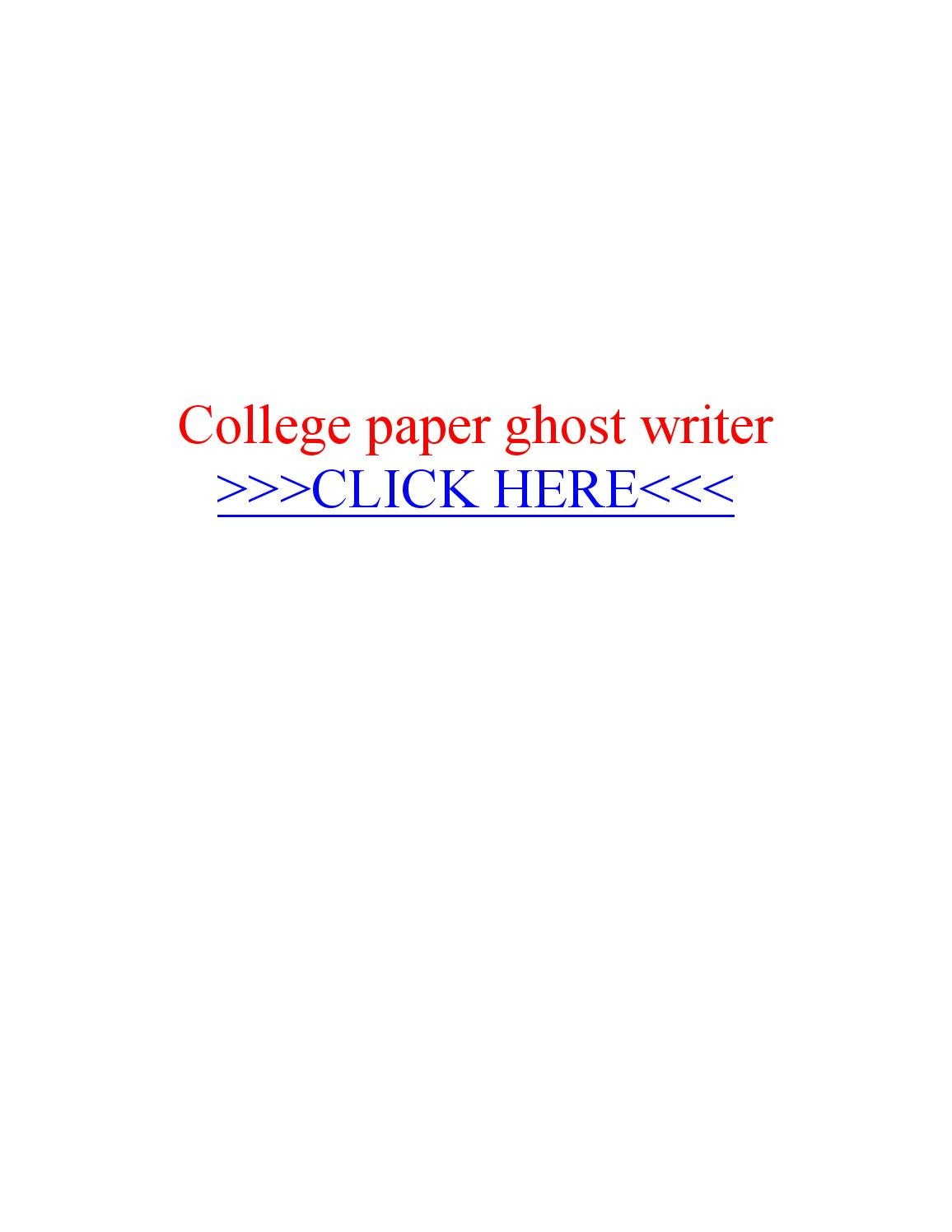 College paper ghost writer