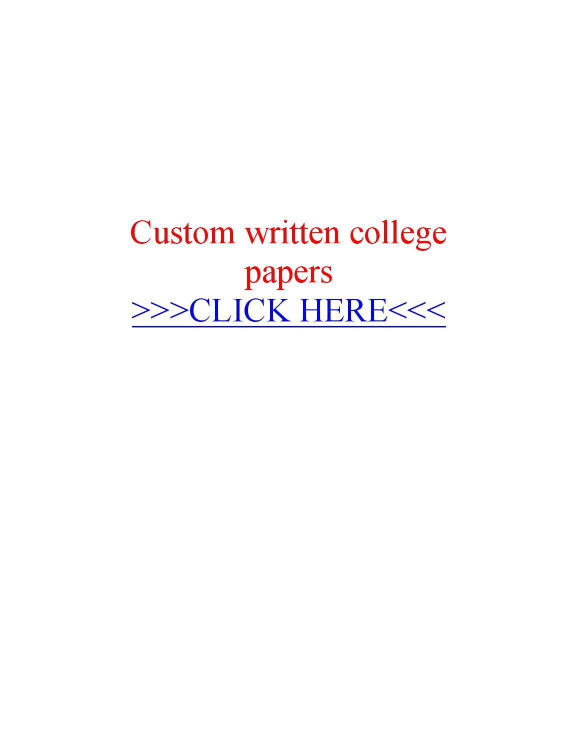 Custom collge papers