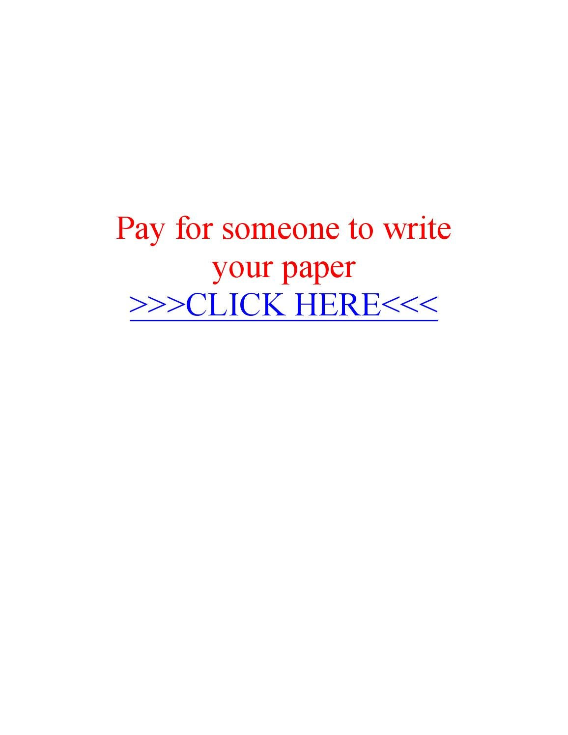 Pay for someone to write your paper