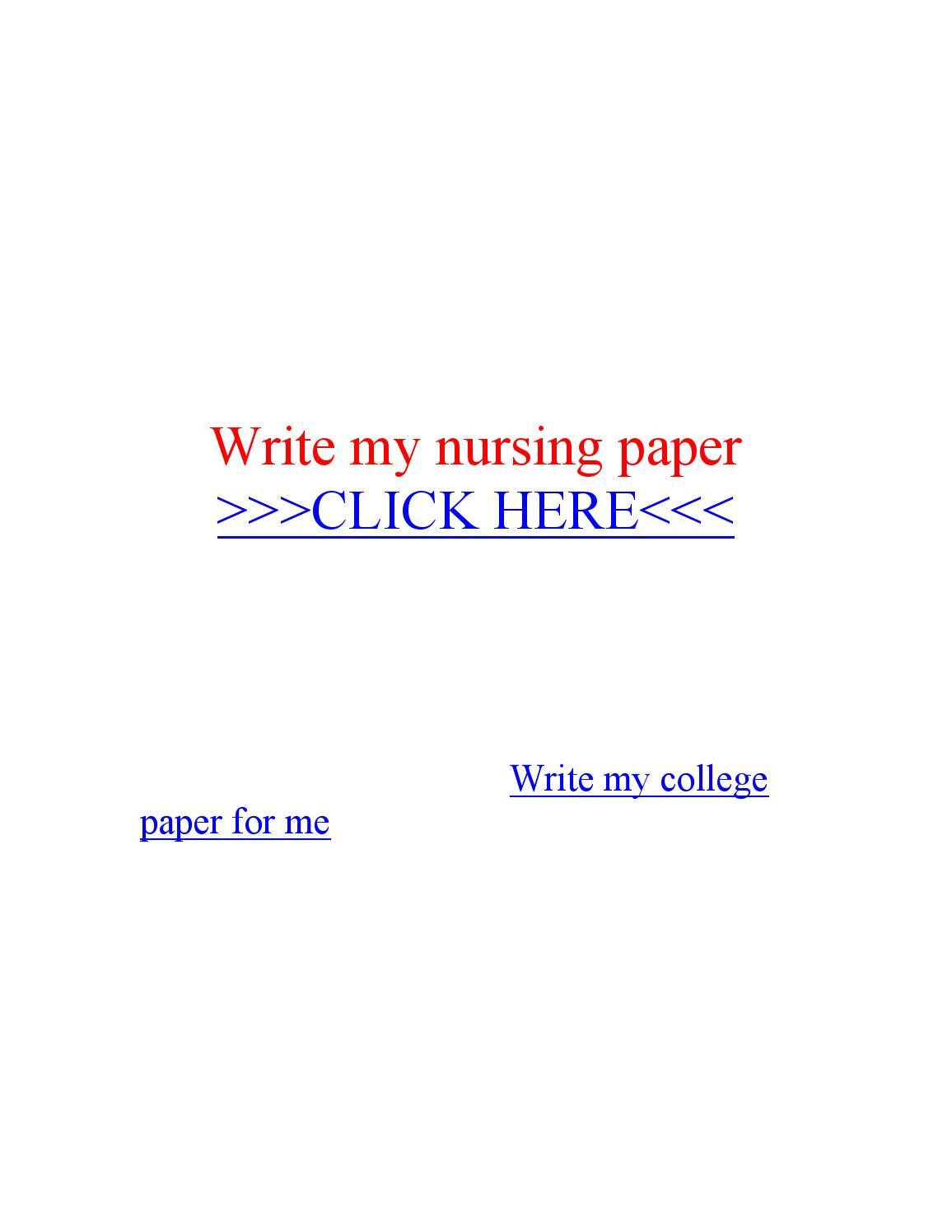 Write my nursing paper processing