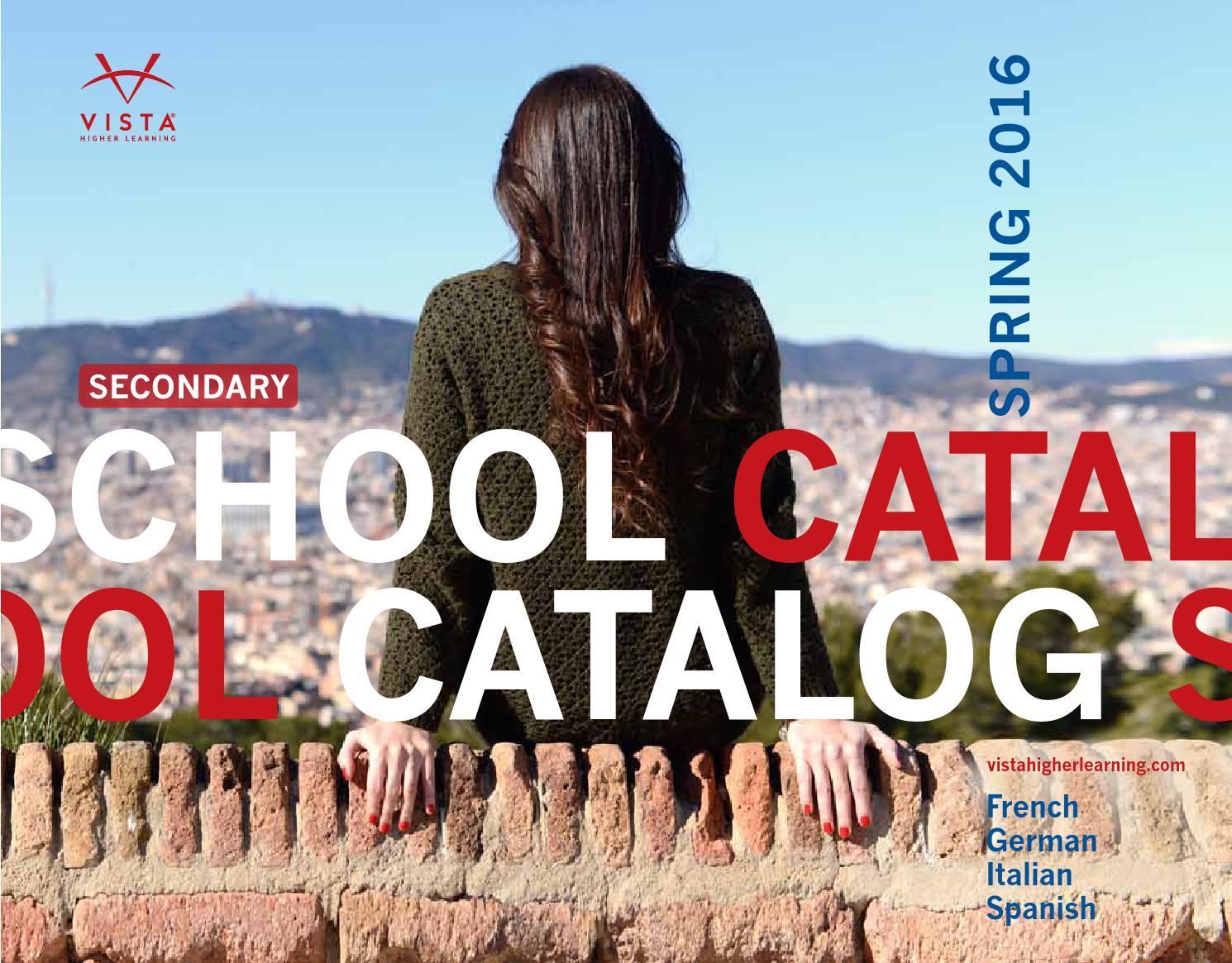 Vista Higher Learning - Spring 2016 School Catalog by Vista Higher ...