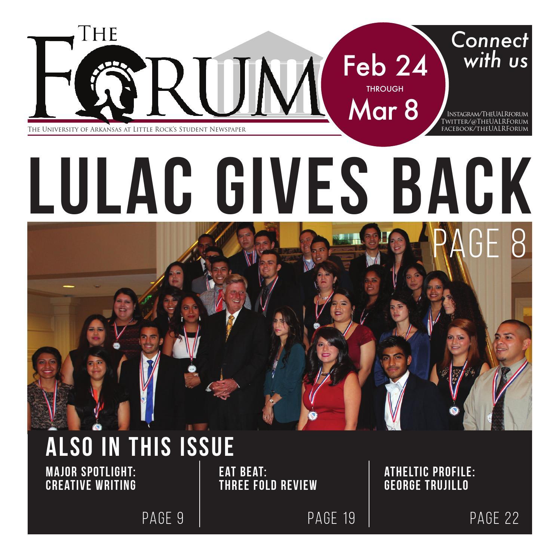 8fc0e9459f3 Feb. 24 Edition by UALR Forum - issuu