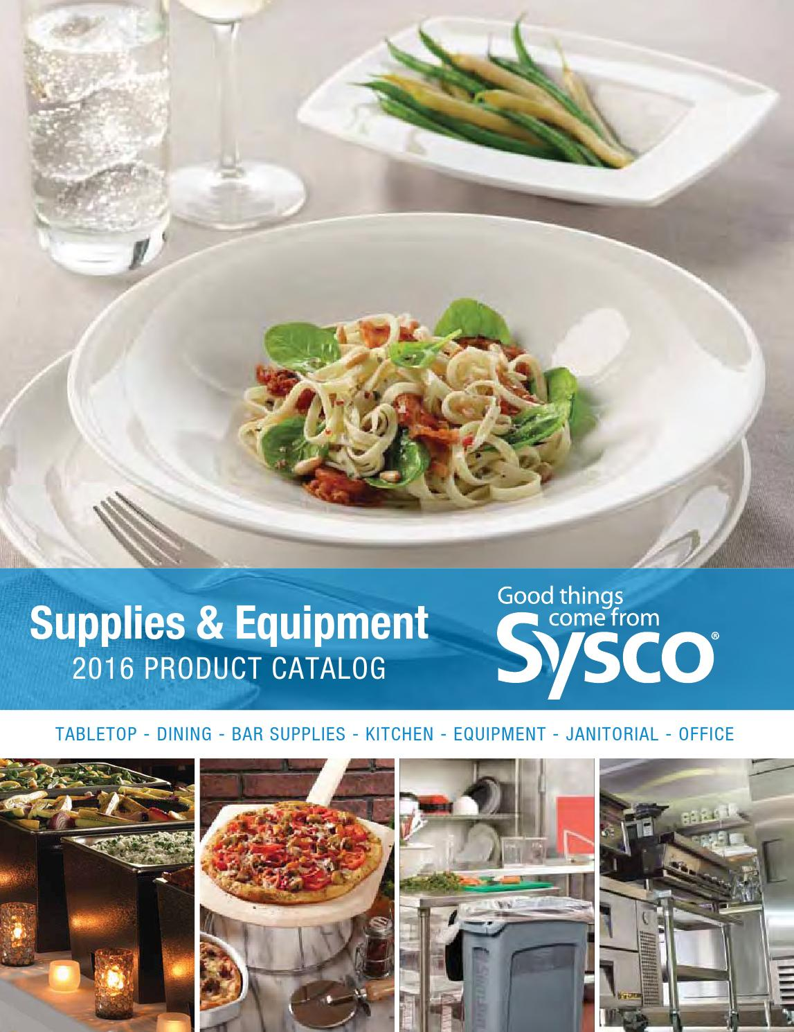 Sysco Supplies & Equipment 2016 Product Catalog by Jessica Chouprov ...