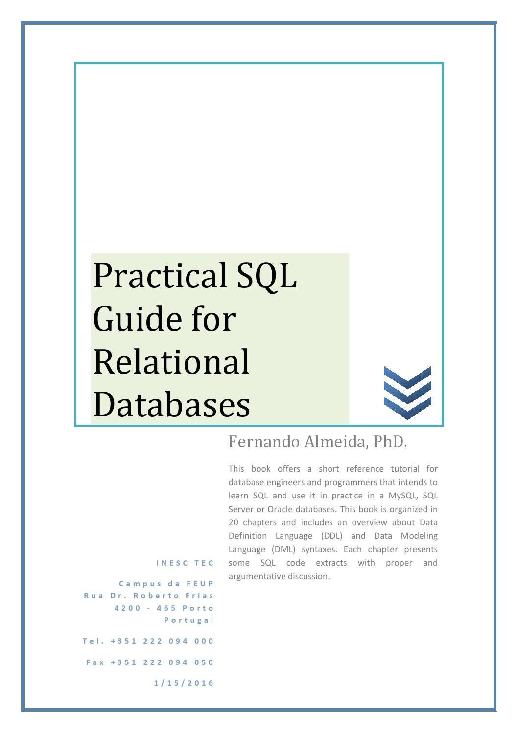 Practical sql guide for relational databases by fernando almeida practical sql guide for relational databases by fernando almeida issuu baditri Image collections