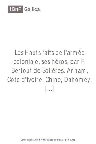 les hauts faits de larm233e coloniale 1912 by pr233sident