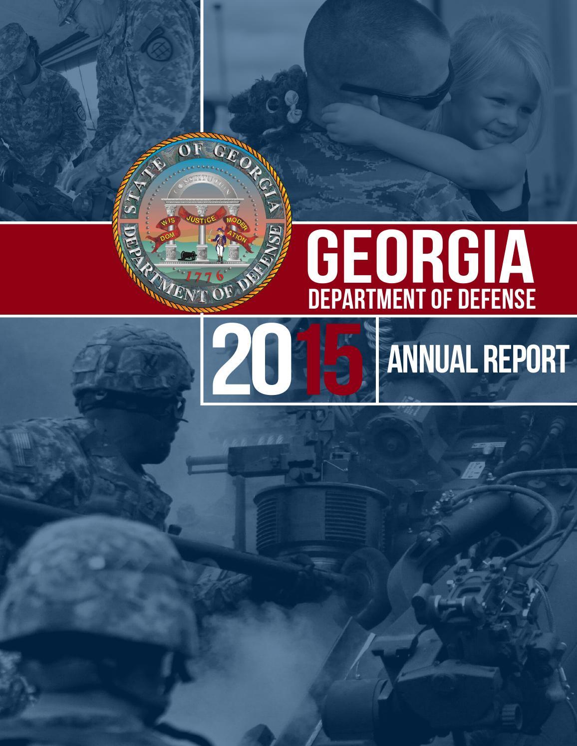 2015 Georgia Department of Defense Annual Report by Georgia