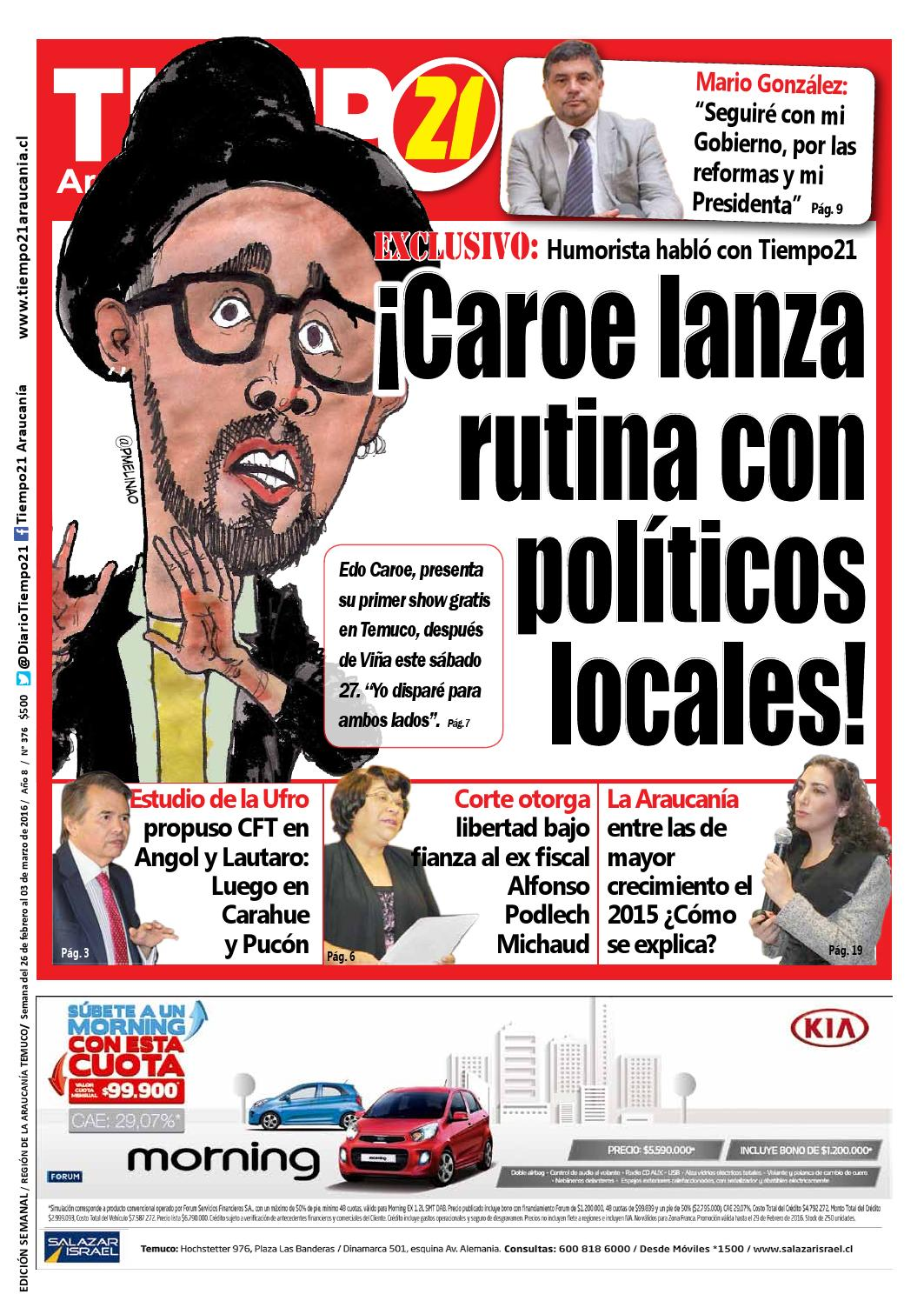 Edici N 376 Edo Caroe Lanza Rutina Con Pol Ticos Locales By  # Muebles Jouannet Temuco