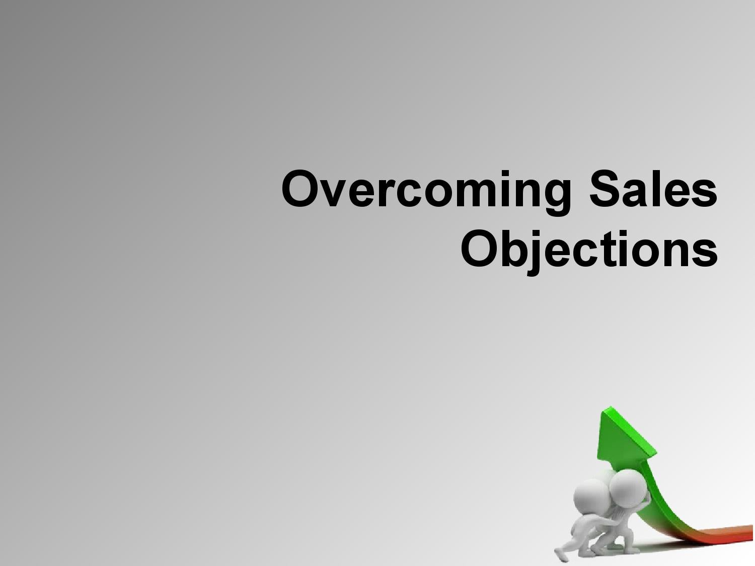 Overcoming Sales Objections Sample Powerpoint by