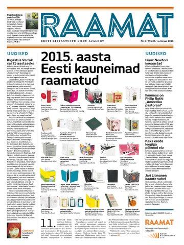 3e7b6e67e6f Ajaleht RAAMAT (veebruar 2016) by Kaidi Urmet - issuu