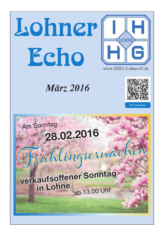 Lohner Echo März 2016 by Werner Berning - issuu