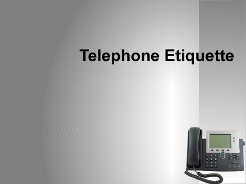 Page 1. Telephone Etiquette & Telephone Etiquette Sample Powerpoint by Courseware - issuu