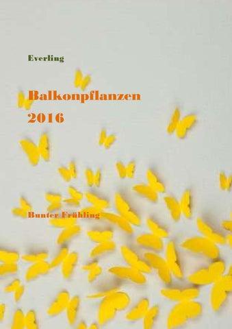 Everling Balkonpflanzen 2016 By Everling Kft Issuu