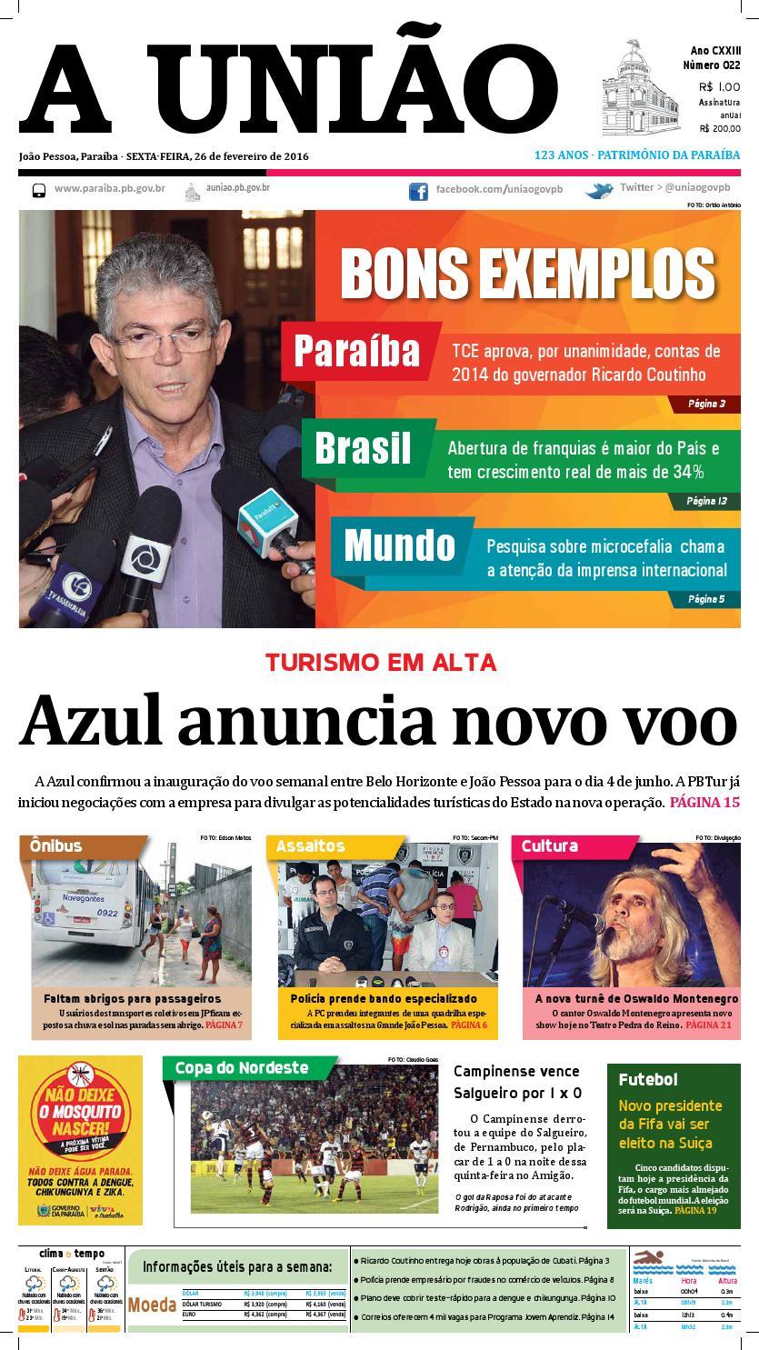 11fcc4e51e Jornal A União 26 02 16 by Jornal A União - issuu
