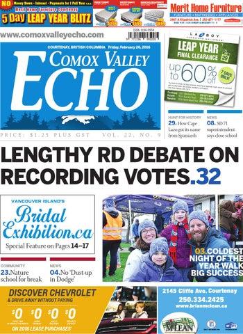 Comox Valley Echo February 26 2016 By Black Press Issuu