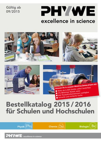 PHYWE Bestellkatalog 2015-2016 Lehrsysteme - Physik - Chemie by ...