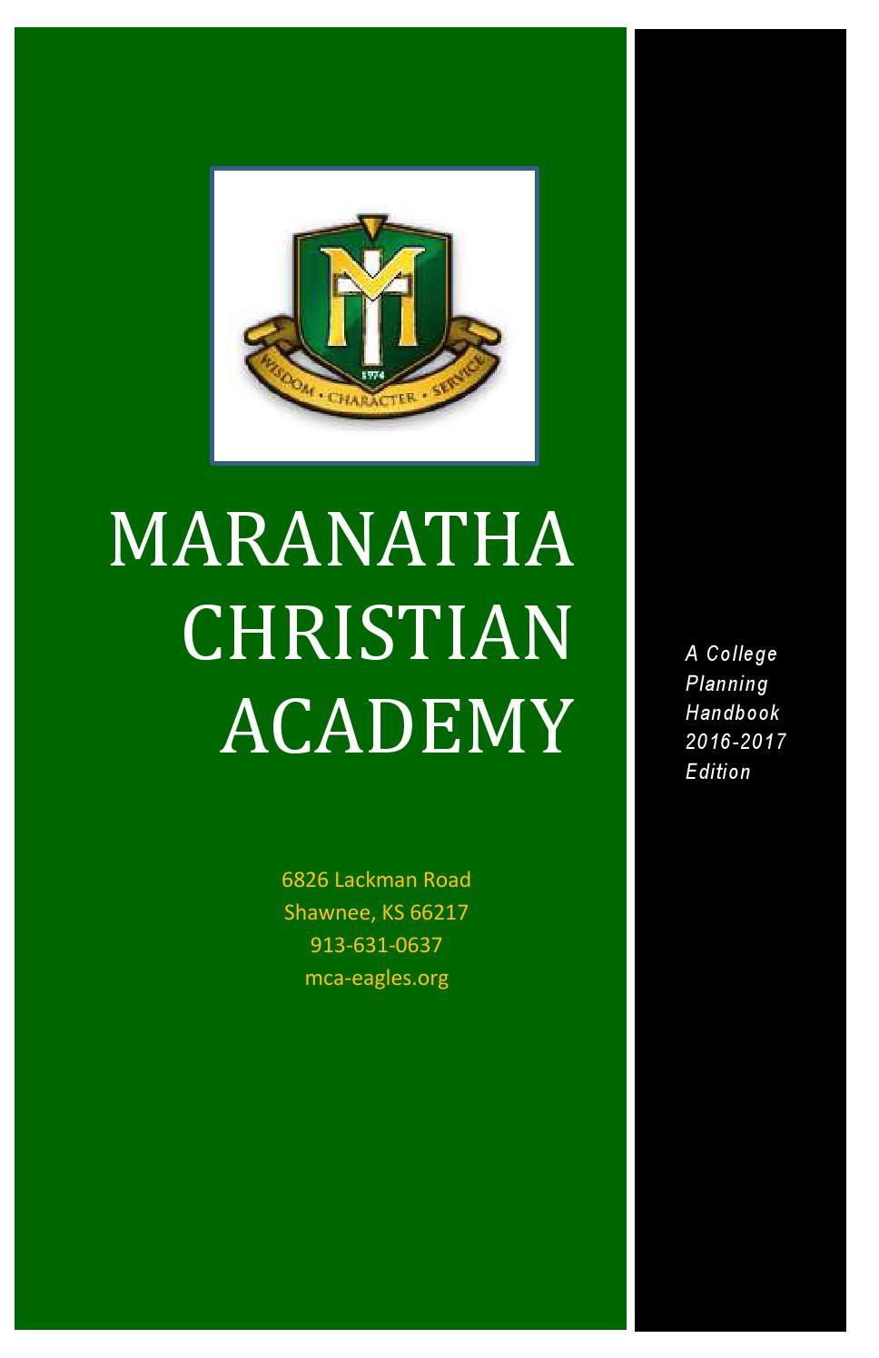 college career center maranatha christian academy of shawnee ks mca college planning handbook