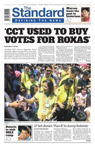 The Standard 2016 February 27 Saturday By Manila