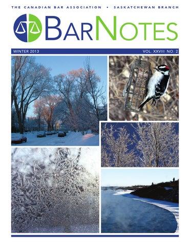 Barnotes Winter 2013 By Cba Saskatchewan Issuu