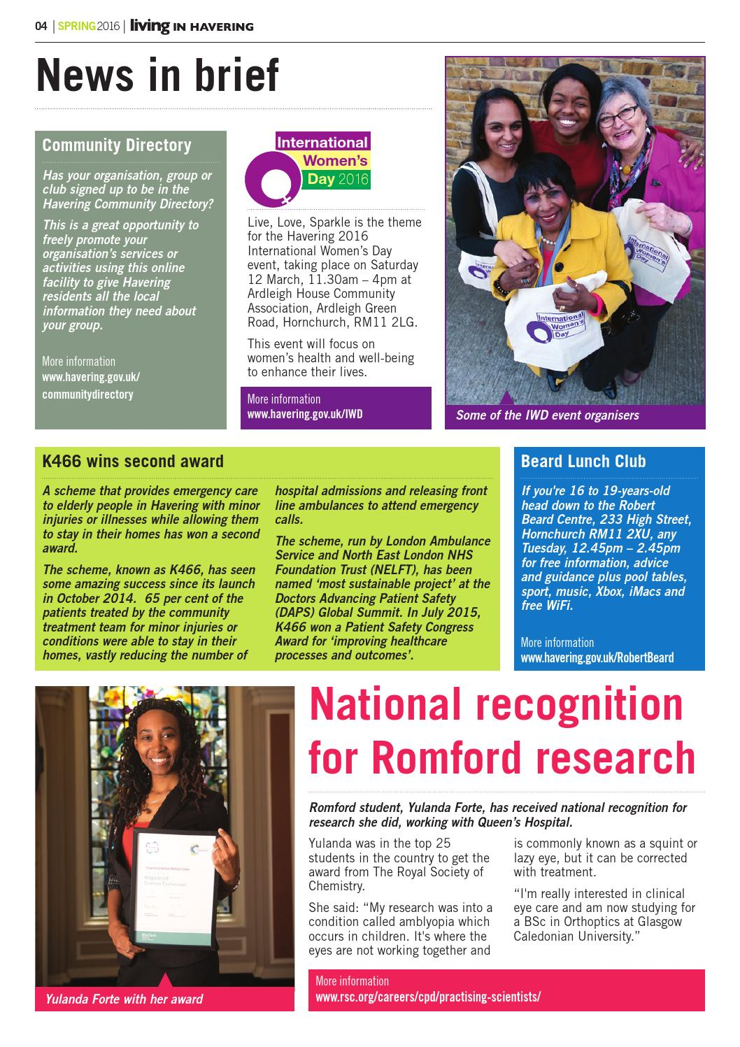 Living in Havering 171 Spring 2016 by Havering Council - issuu