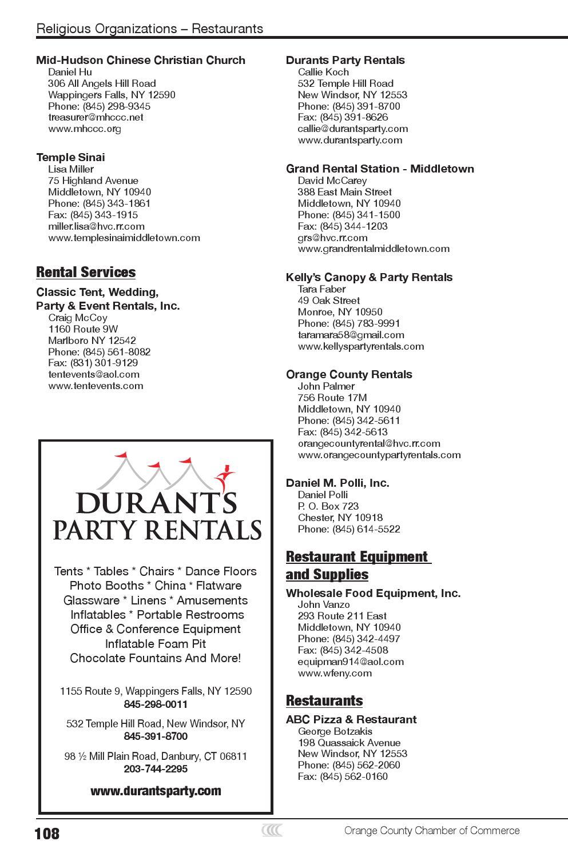 Orange County Chamber of Commerce Membership Directory