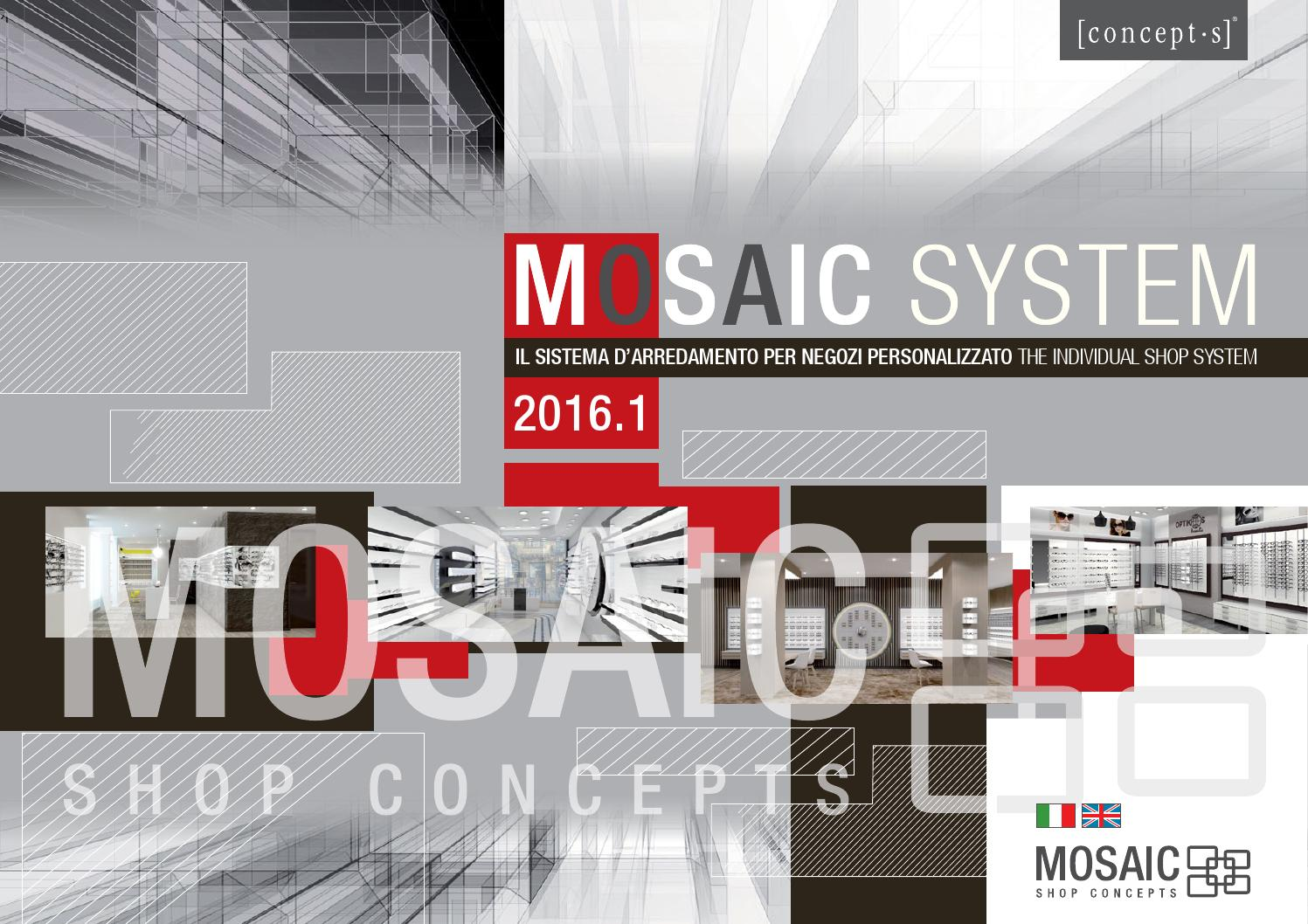 mosaic system il sistema d arredamento per negozi