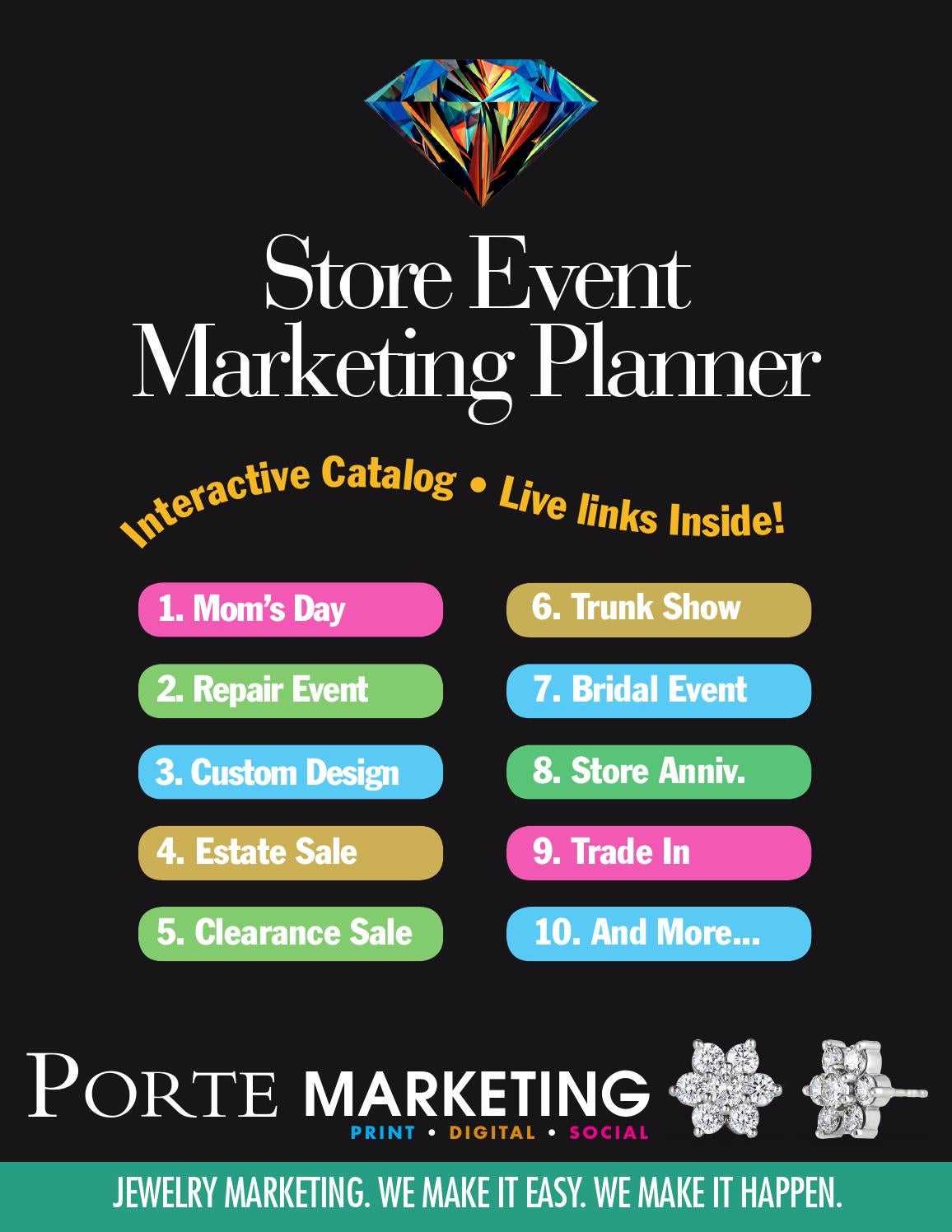 2016 porte store event marketing planner by james porte