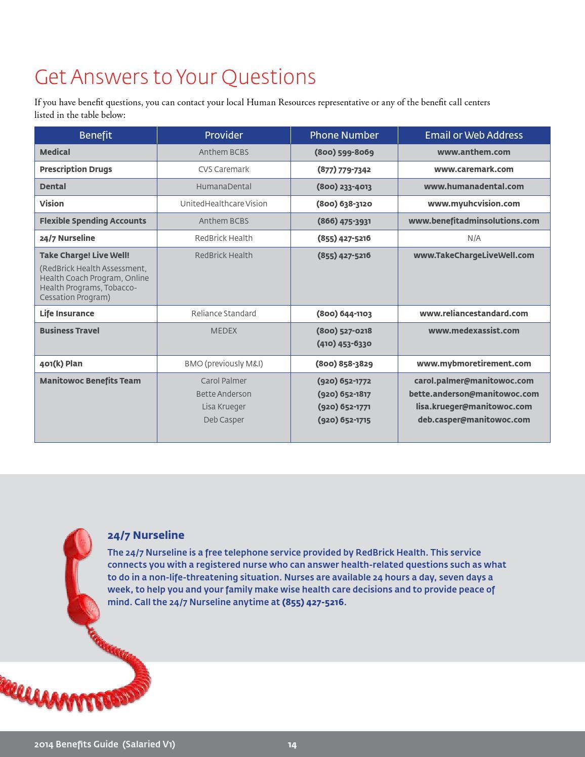 Manitowoc Corporate Benefits Manual by Julie Gerovski ...