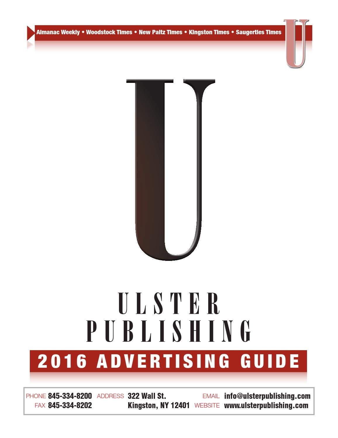 Ulster Publishing marketing guide 2016 by Ulster Publishing