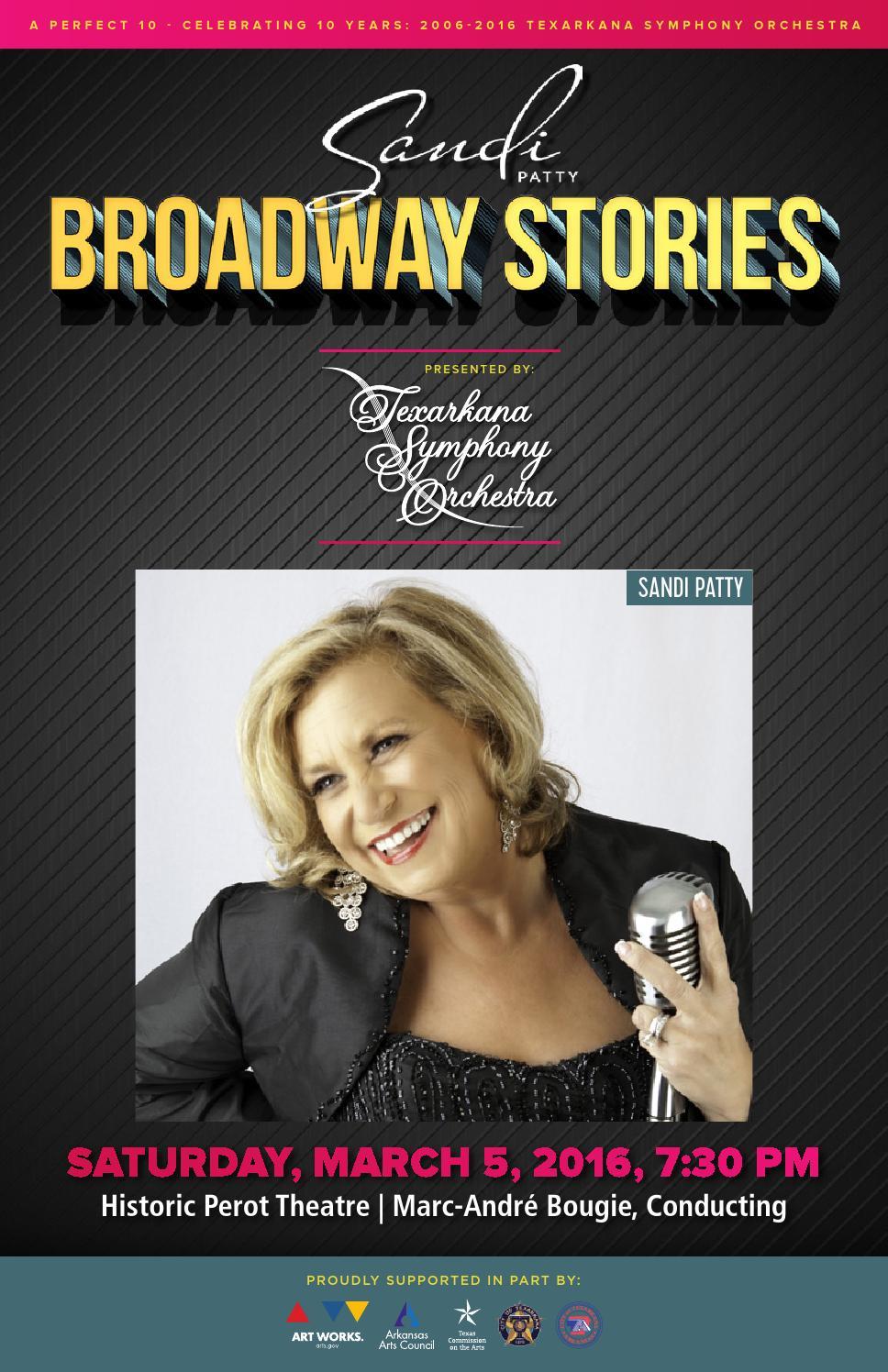 Sandi pattys first husband - Sandi Patty S Broadway Stories Concert Program By Texarkana Symphony Orchestra Issuu